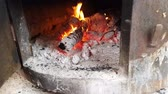 cosiness : Hot fireplace of wood and fire.