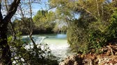 antalya : Waterfall flowing among trees. Manavgat waterfall in Turkey. Stock Footage