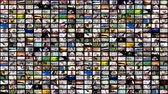 wandklok : 8K aan videomuurmediastreaming. Stockvideo