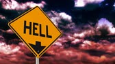 Hell is down sign.