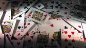 cassino : Rotating playing cards. Stock Footage