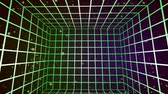 wykres : A 3D grid in a colorful star field. Wideo