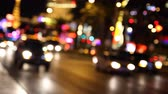 cassino : Defocused traffic on The Strip in Las Vegas, Nevada. Stock Footage