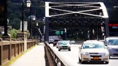 ponte : Traffic pass over the Hill to Hill Bridge in Bethlehem, Pennsylvania.