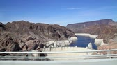 nevada : Driving past the Hoover Dam.