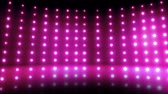 A large flashing pink marquee with flashing lights. Stock Footage