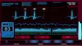 gelecek : A futuristic simulated heart monitoring screen.