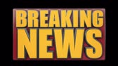 alerta : A BREAKING NEWS animated title graphic.  With luma matte. Stock Footage