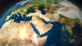 cartography : Earth zoom to the middle east.
