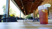 patio : An empty restaurant patio. Stock Footage