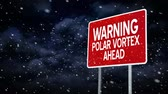 alerta : A polar vortex road sign title plate.