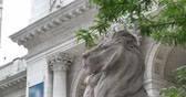 meşgul : NEW YORK CITY - Circa July, 2014 - People visit the New York Public Library on 5th Avenue in Manhattan.
