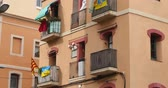 apartamentos :  A generic Spanish-style residential building establishing shot. Stock Footage