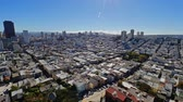 russo :  An aerial view of the Russian Hill area of San Francisco. Stock Footage