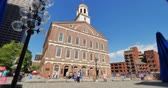 establishing shot : A daytime establishing shot of Faneuil Hall Marketplace in Boston.