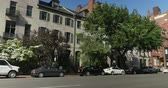 caro : A typical residence on Beacon Street in downtown Boston. Stock Footage