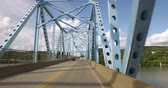bóbr : A drivers perspective of driving on a typical two-lane bridge over the Ohio River in Western Pennsylvania.