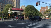 NEW YORK - Circa August, 2016 - Manhattan rush hour traffic heads into the Holland Tunnel. Stok Video