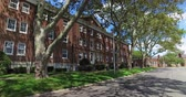 A row of old buildings on Governors Island in New York. Stock Footage