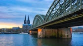 The Cologne Cathedral in Cologne, Germany. Vidéos Libres De Droits