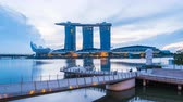 Singapore Marina Bay Day to night Timelapse, 4k Time Lapse Vidéos Libres De Droits