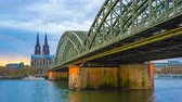 Timelapse 4K, Cologne Cathedral or Cathedral Church of Saint Peter in Cologne, Germany, video time lapse