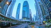 Time Lapse video of Hong Kong city day to night Timelapse 4K