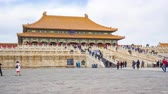 Time Lapse video of the tourist in Forbidden city Beijing, China timelapse, 4K