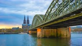Time Lapse video of Cathedral Church of Saint Peter in Cologne, Germany timelapse 4K