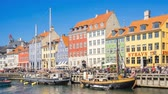 Time Lapse video of The old house of Nyhavn in Copenhagen, Denmark timelapse, 4K