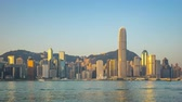 hong kong skyline : Timelapse video of morning in Hong Kong city skyline Time Lapse 4K