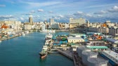 Timelapse video of Tomari Port with Okinawa skyline in Naha, Okinawa, Japan Time Lapse 4K
