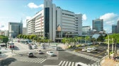 Timelapse video of Okinawa Kencho-mae downtown of Naha, Okinawa, Japan Time Lapse 4K Stok Video