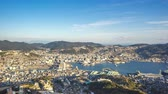 Time lapse video of view from Inasa Mount in Nagasaki, Japan, timelapse Vidéos Libres De Droits