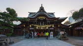 kyushu : Time Lapse video of People travel at Kushida Shrine in Hakata, Fukuoka, Japan Timelapse 4K