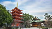 buddhist : Timelapse video of Tochoji Temple in Hakata, Fukuoka, Japan