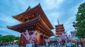 Timelapse video of people are traveling at Sensoji Temple in Tokyo, Japan, timelapse 4K
