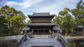 buddhist : Timelapse video of Shofukuji Zen Temple in Fukuoka, Japan time lapse 4K