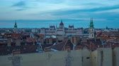 budapeşte : Day to night timelapse of Budapest city skyline in Budapest, Hungary time lapse 4K