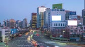 Night to day time lapse of Traffic in Seoul, South Korea timelapse 4K