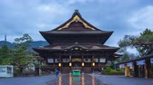 Timelapse of Zenkoji Temple at night in Nagano, Japan time lapse 4K Filmati Stock