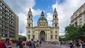 cathedral : St. Stephens Basilica time lapse in Budapest city, Hungary
