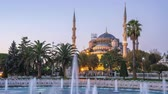 turečtina : Istanbul blue mosque night to day time lapse in Istanbul, Turkey
