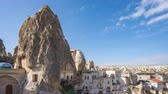 Cappadocia cave city skyline time lapse with in Goreme, Turkey Dostupné videozáznamy