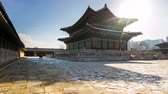 Gyeongbokgung Palace time lapse in Seoul, South Korea Timelapse