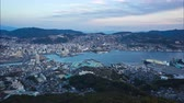 Nagasaki city skyline day to night time lapse in Norhtern Kyushu, Japan Dostupné videozáznamy