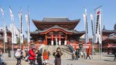 Nagoya, Japan - February 16, 2019: Osu Kannon Temple is a popular Buddhist temple in central Nagoya
