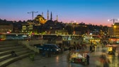 Istabul city skyline in Istanbul city, Turkey day to night time lapse