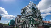 Zaandam, Netherlands - May 13, 2019: Zaandam modern buildings in North Holland, Netherlands Stock Footage