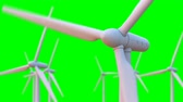 deliver : Seamless looping animation of wind turbines spinning